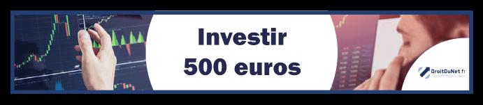 banner investir 500 euros
