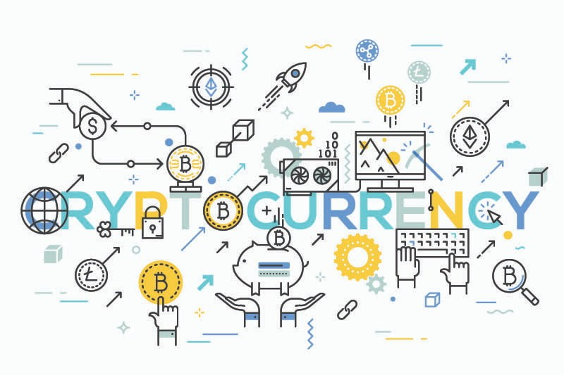 illustration de la crypto-monnaies