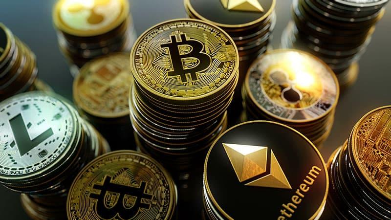 cryptocoin, bitcoin, ethereum, litecoin, atom
