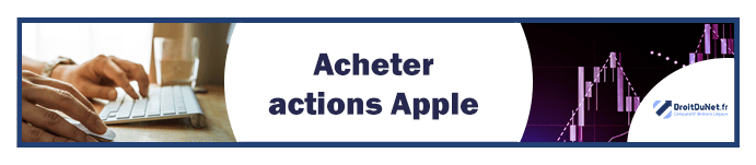 banner acheter actions apple