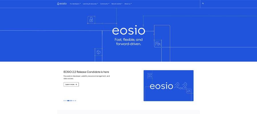 screenshot eos interface