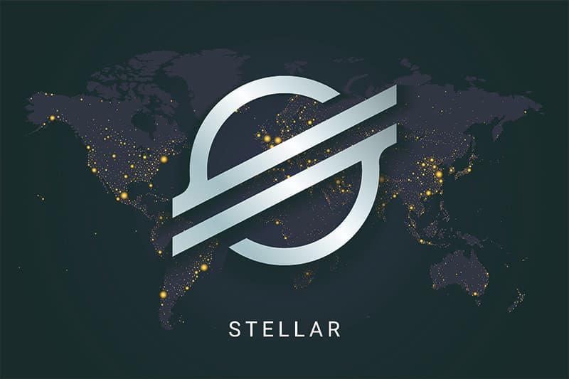 stellar xlm cryptocoin logo illustration
