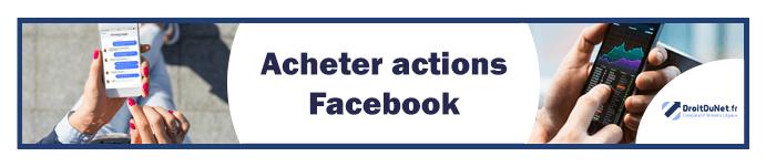 banner acheter actions facebook