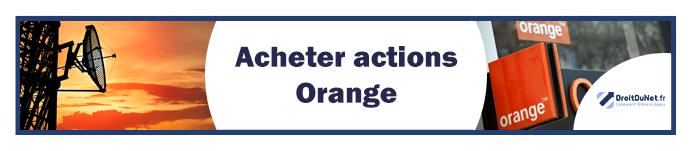 banner acheter actions orange